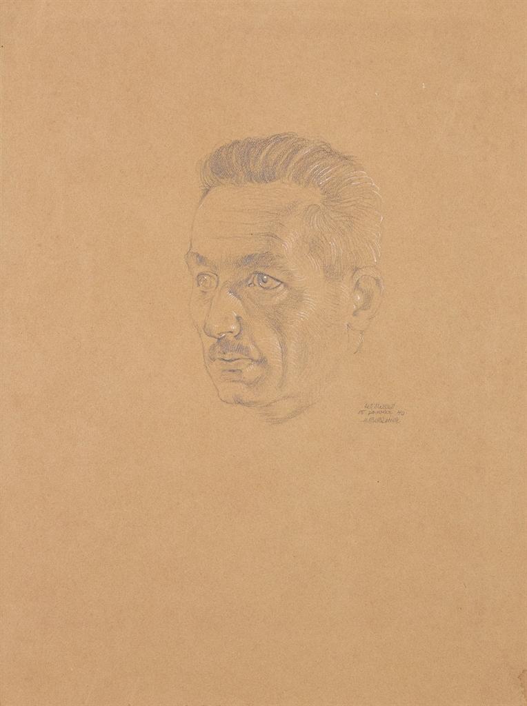 Hans Bellmer-Portrait du Commandant Coudene-1940