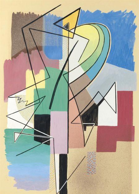 Gino Severini-Danseuse abstraite-1958