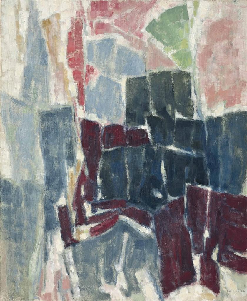 Paul Kallos-Interieur a la plante verte-1956