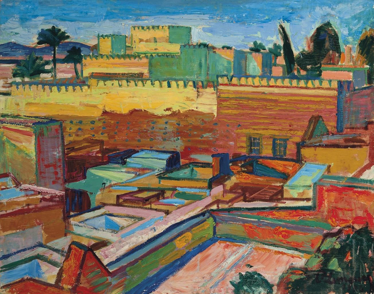 Roger Marcel Limouse-Terrasses a Marrakech-1954