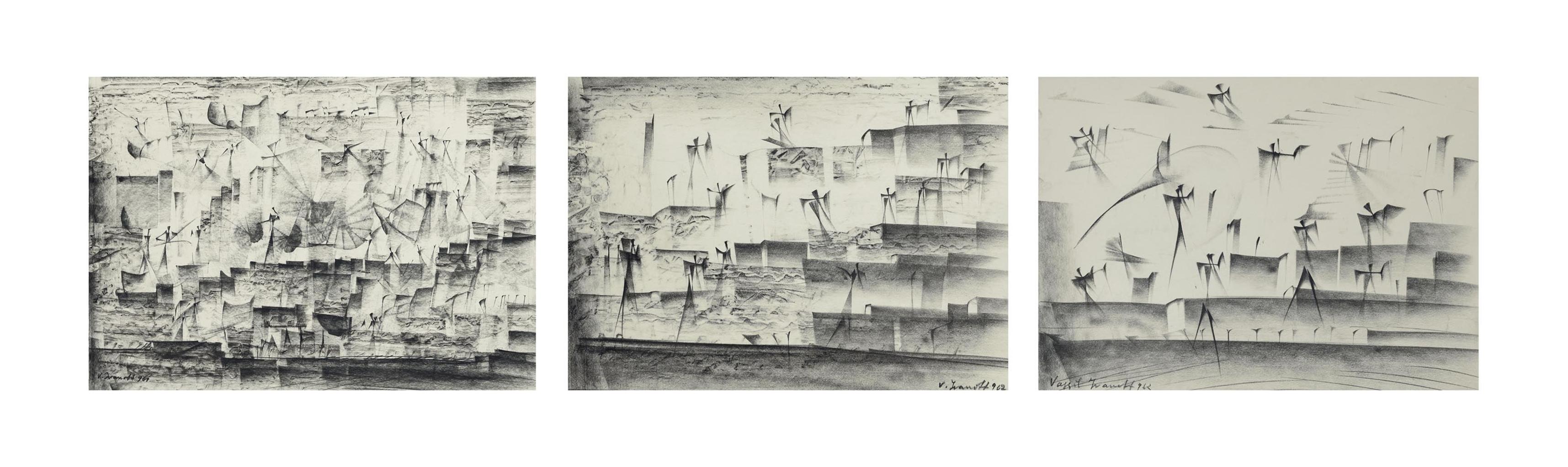 Vassil Ivanoff-Compositions surrealistes-1962