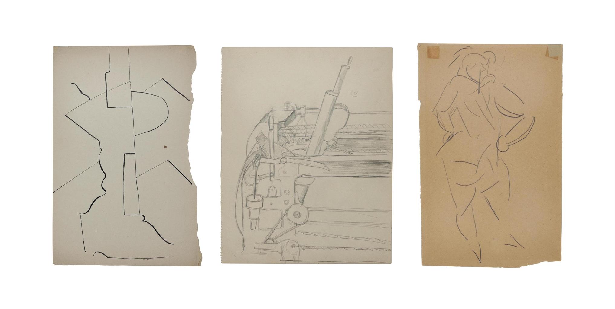 Otto Gutfreund-Cubist Compositions-