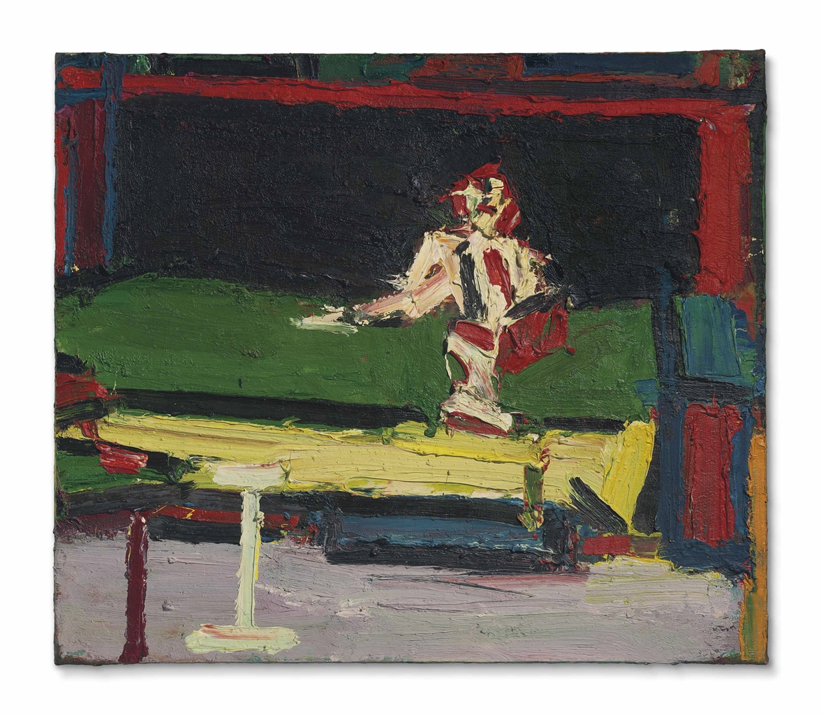 Frank Auerbach-Figure Seated on Bed-1969