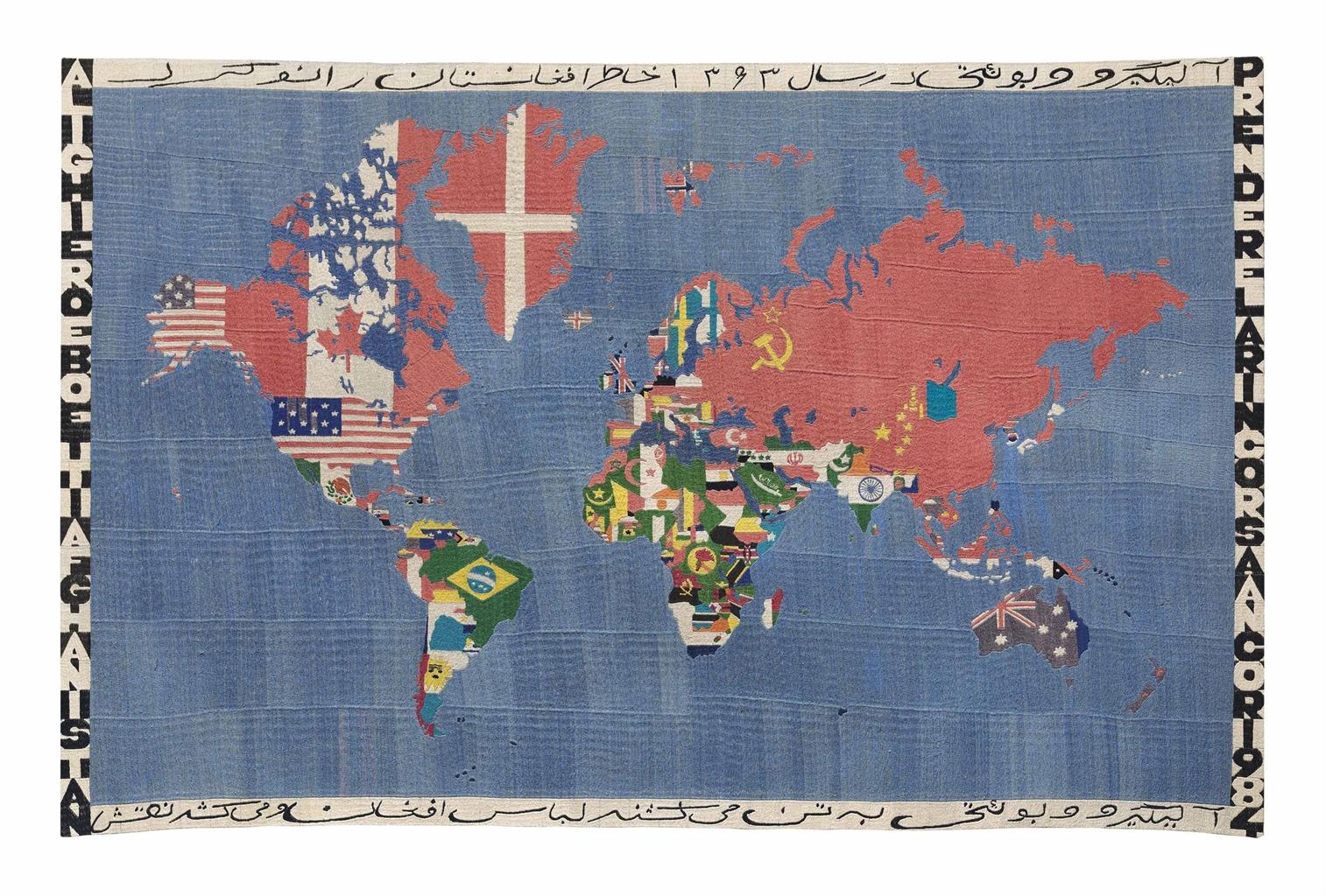 Alighiero Boetti-Mappa-1984