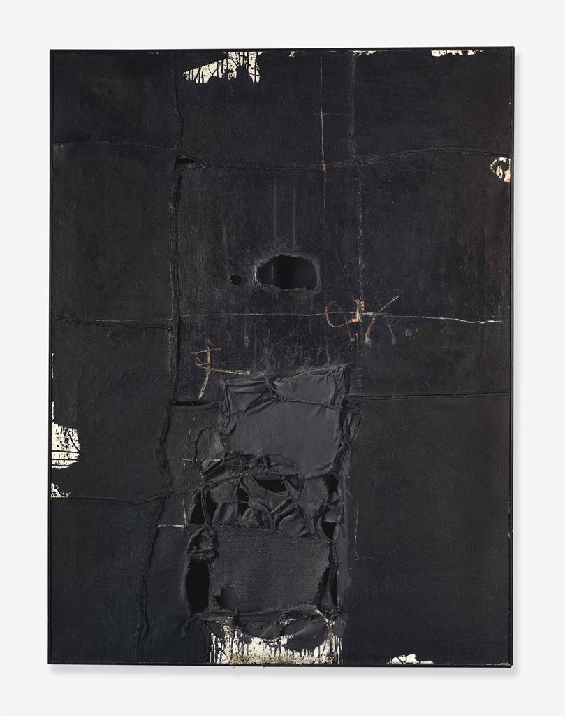 Manolo Millares-Untitled (Composition) Painting no. 4-1959