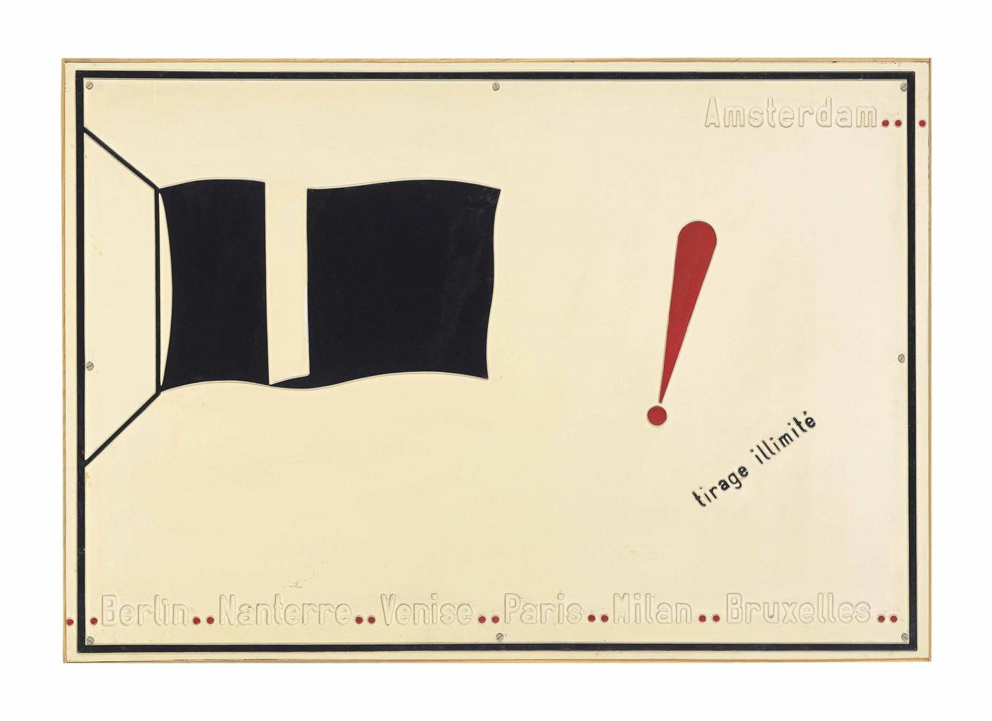 Marcel Broodthaers-Le drapeau noir, tirage illimite (The Black Flag, Unlimited Edition)-1968