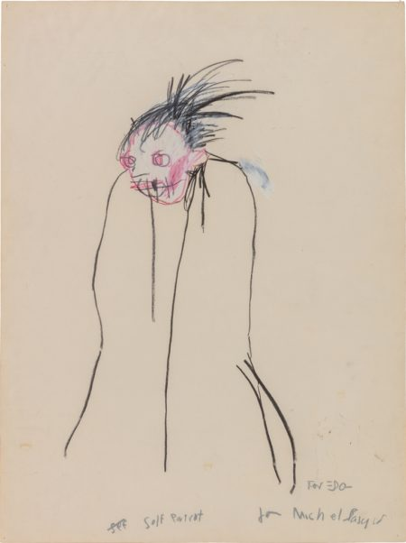 Jean-Michel Basquiat-Self Portrait-1983