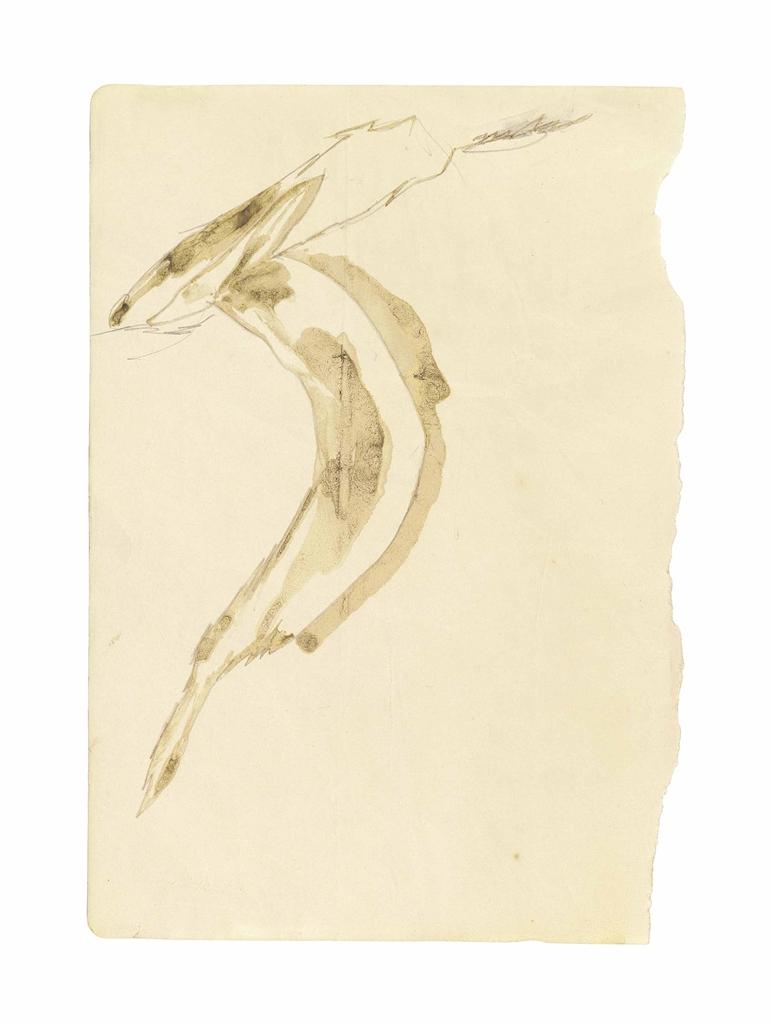 Joseph Beuys-Angstsprung des elektrisierten Fuchses (The Electrified Fox Jumping of Fear)-1953