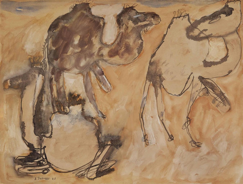 Jean Dubuffet-Trois Chameaux (Three Camels)-1948