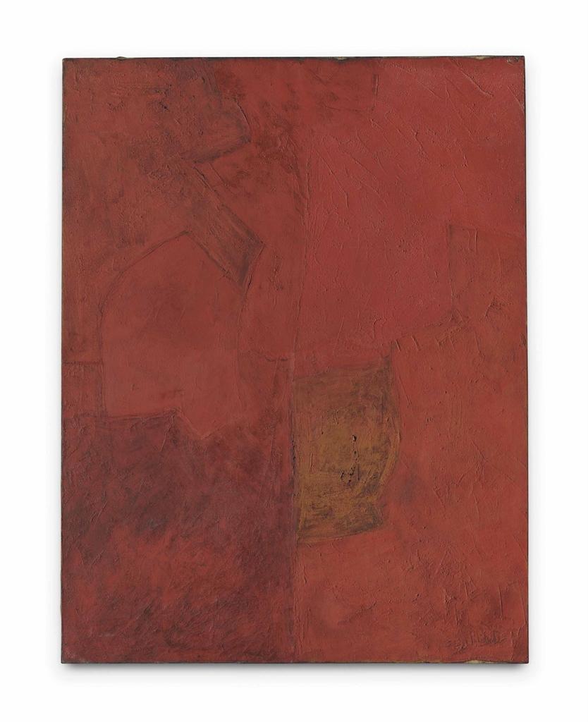 Serge Poliakoff-Rouge monochrome (Red monochrome)-1961