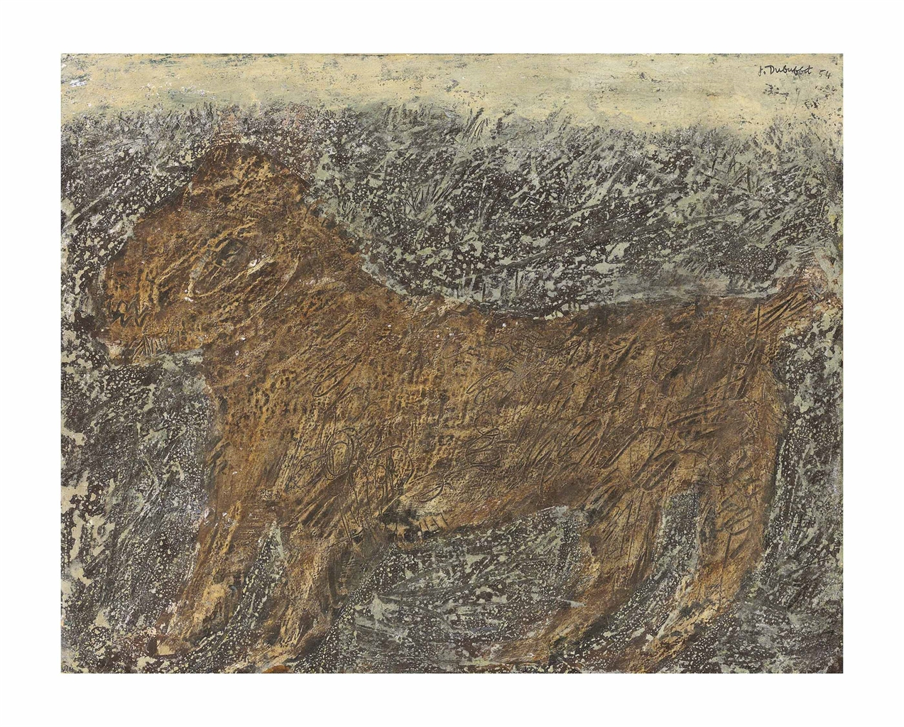 Jean Dubuffet-Chien (Dog)-1954