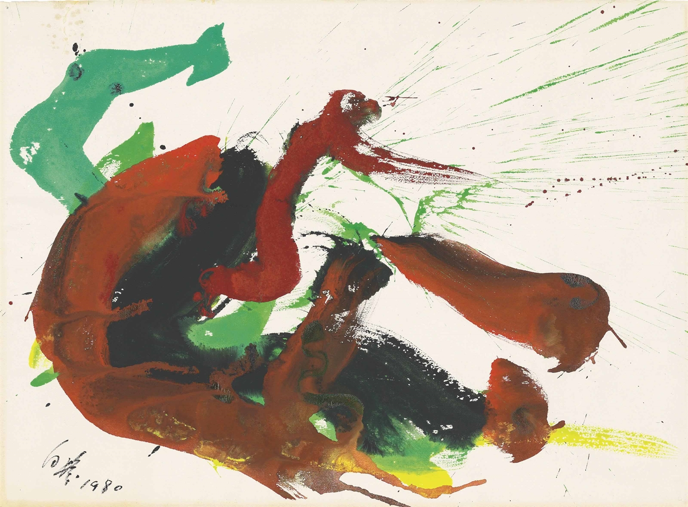 Kazuo Shiraga-Untitled-1980