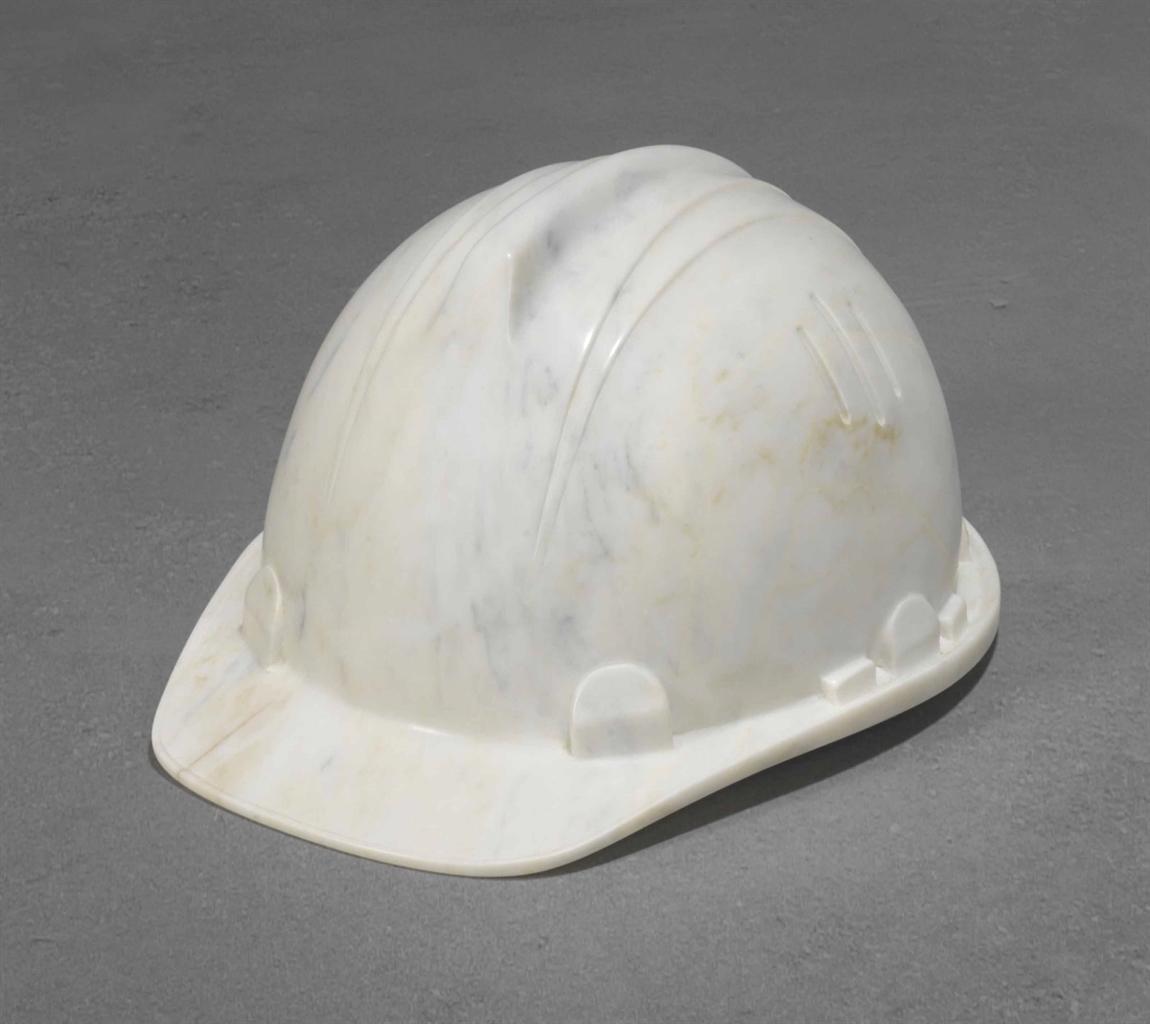 Ai Weiwei-Marble Helmet-2010