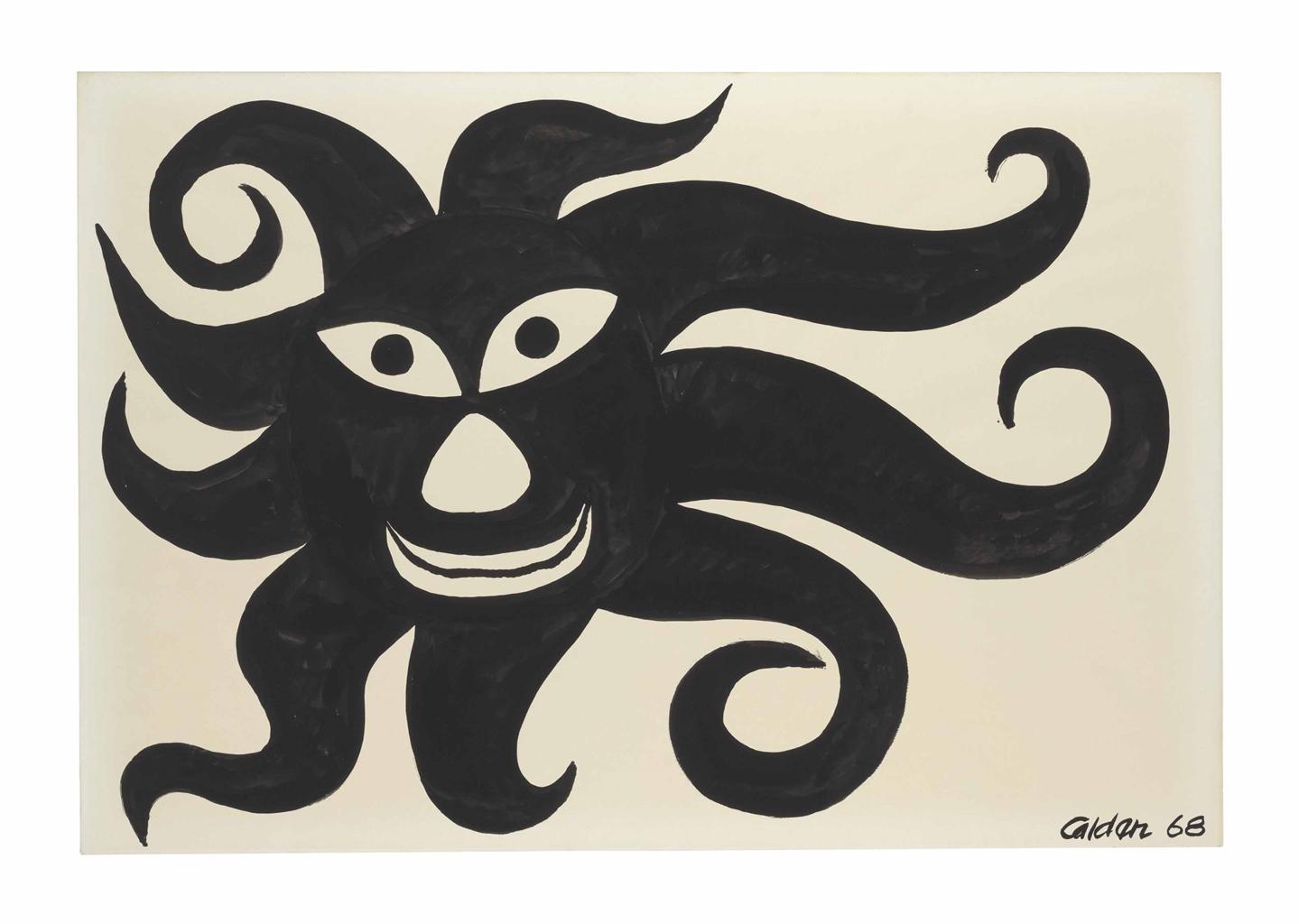 Alexander Calder-Soleil Noir (Black Sun)-1968