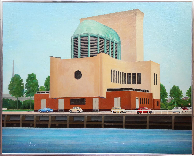 Bob Lens-Ventilation Building Maastunnel South-1975