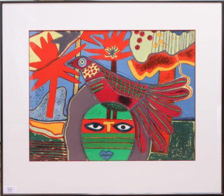 Corneille-Woman with Bird-1984