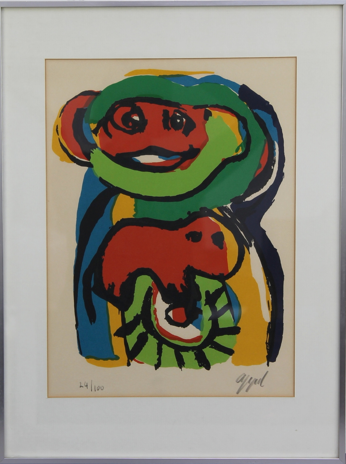 Karel Appel-Child with dog-
