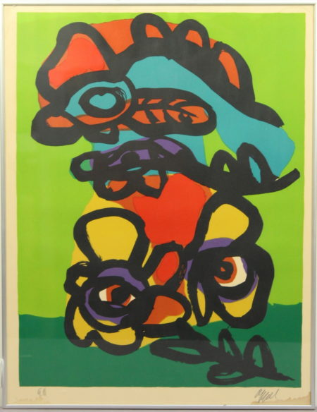 Karel Appel-Flower with bird-