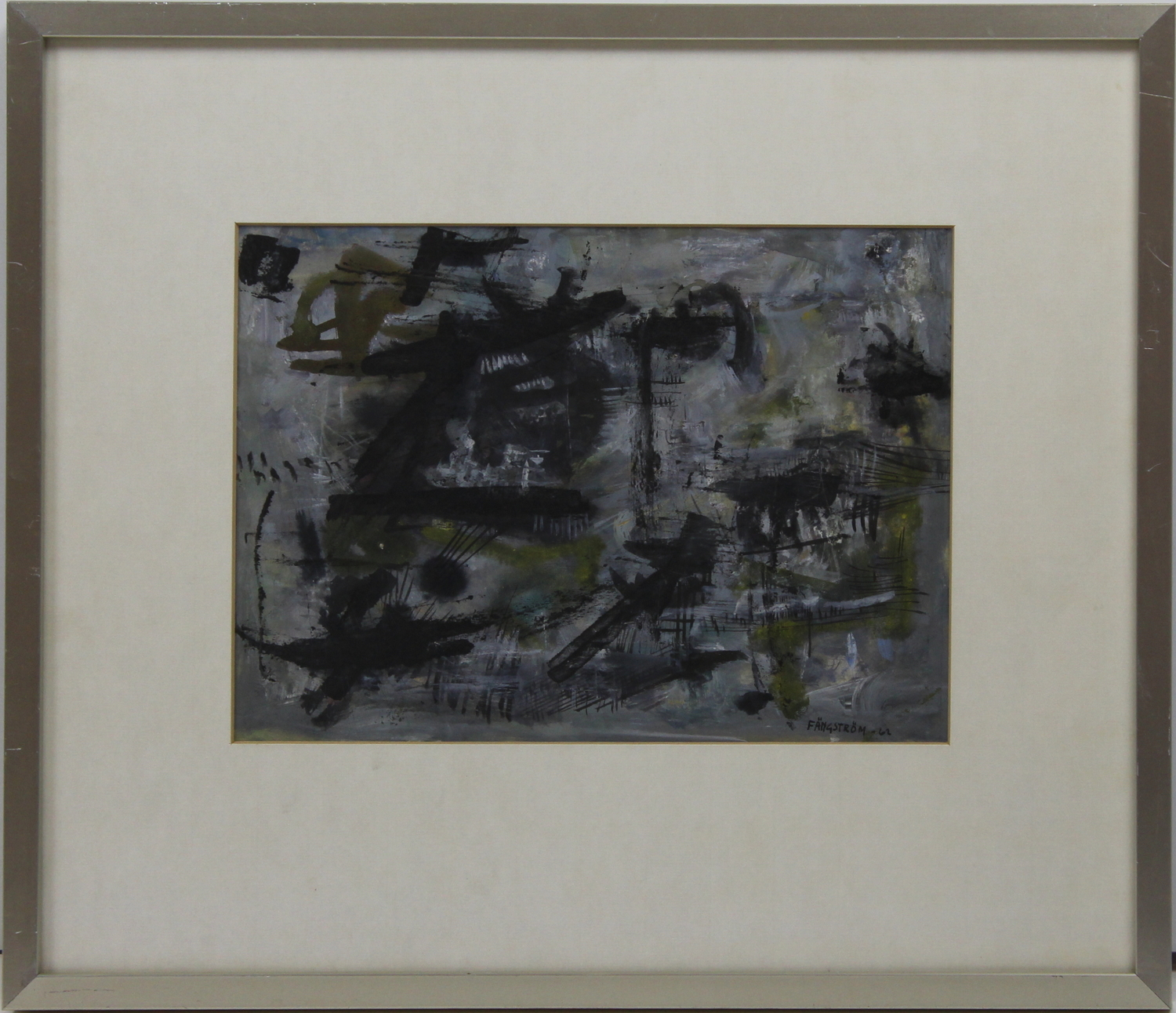 Gustaf Fangstrom-Abstract composition-1962