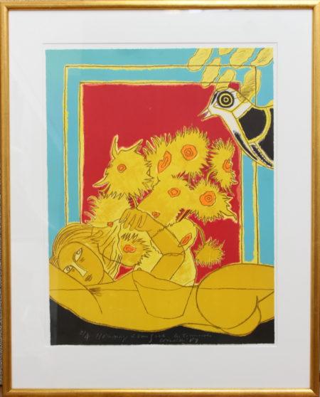 Corneille-Hommage Van Gogh - les tournesols-1989