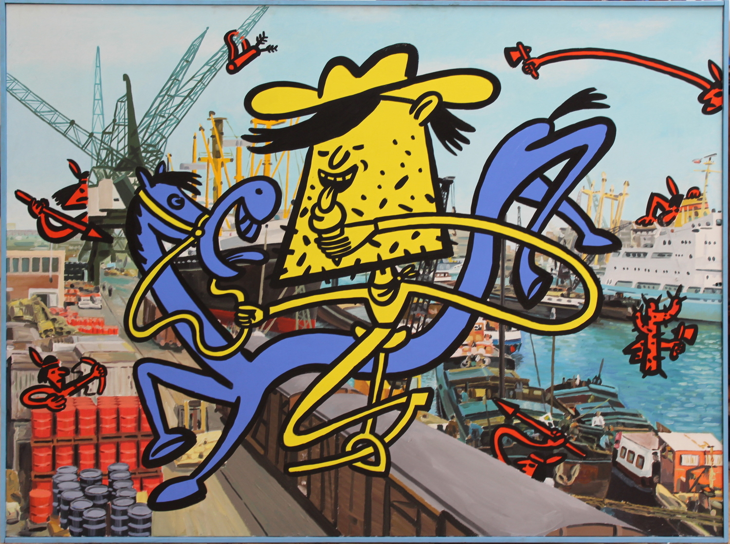 Hans Eijkenboom-Cowboys and Indians in the port of Rotterdam-
