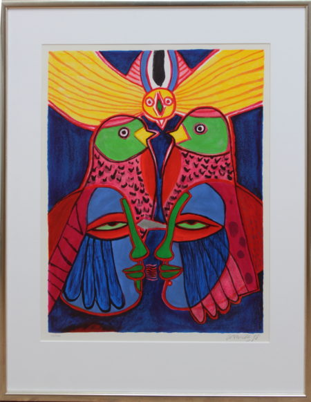 Corneille-Love Couple with birds-1998