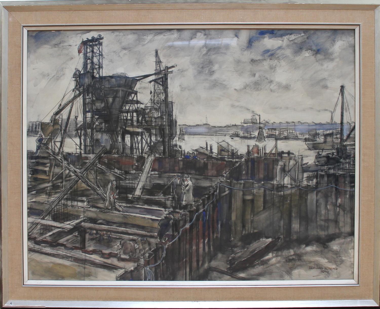 Roeland Koning-Port Structure Rotterdam-1946
