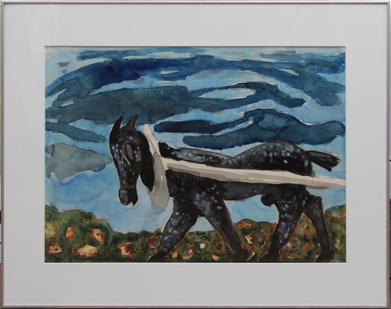 John van 't Slot-Draft horse-1983