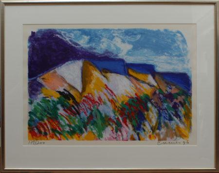 Jan Cremer-Mont Sainte Victoire and Tulips Landscape-1996