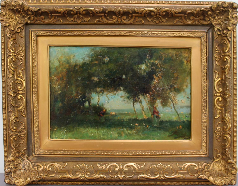H. Vosselman en H. Endlich-Landscape with birches Landscape with rowing boat-