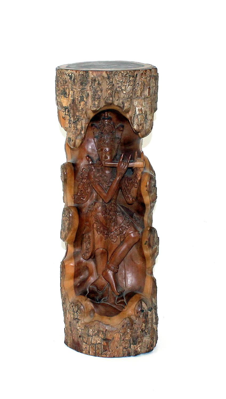 Balinees houtsnijwerk - Flute Player-