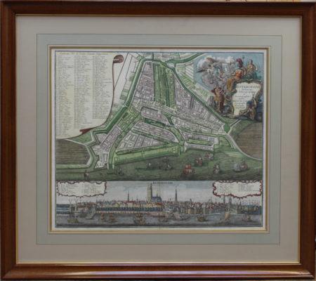 Plattegrond van Rotterdam met profielgezicht - Untitled-