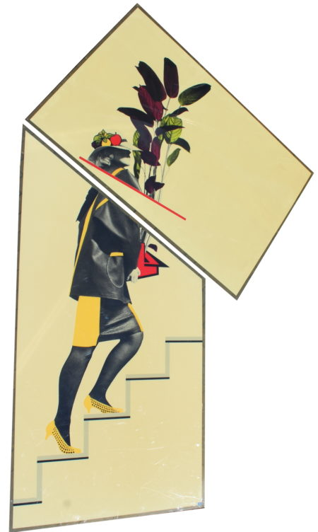 Cor Kraat-Woman with plant (two versions) and Current building (2 versions)-1984