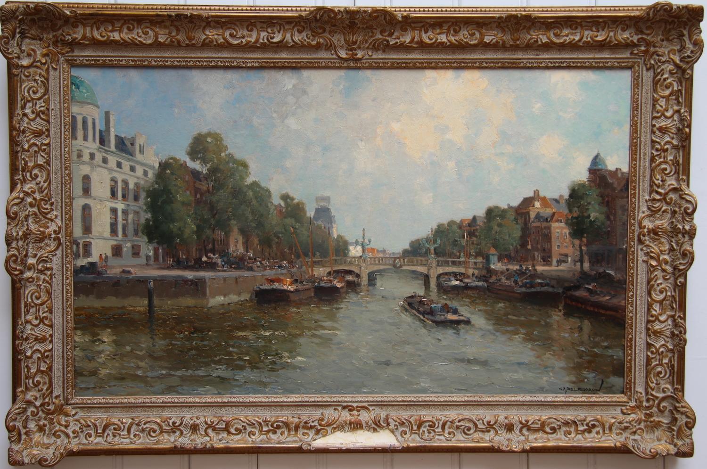 Gerardus Johannes Delfgaauw-Wijnhaven Rotterdam with Regentessebrug and the White House-