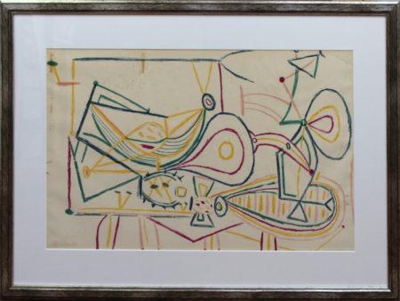 Pablo Picasso-Composition-1947