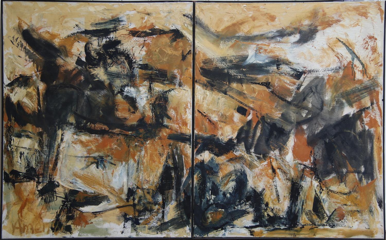 Woody van Amen-Abstract Composition-1961