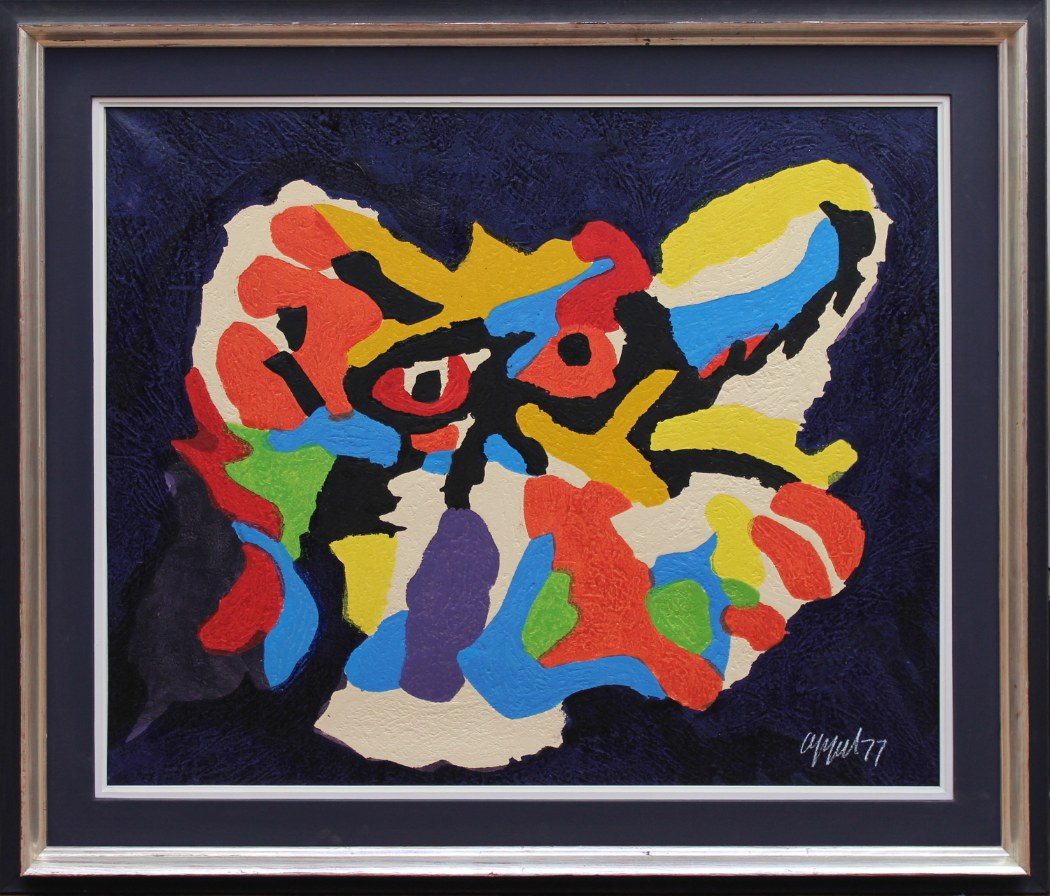 Karel Appel-Composition with wild beast-1977