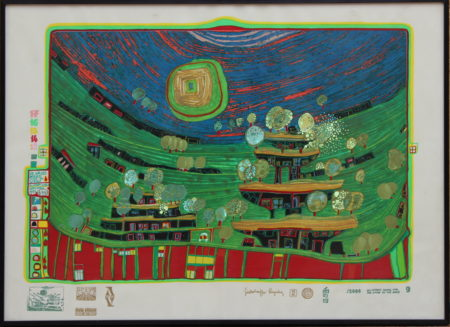 Friedensreich Hundertwasser-The houses are hanging underneath the meadows-1971