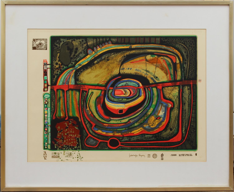 Friedensreich Hundertwasser-Eyebalance number five-1971