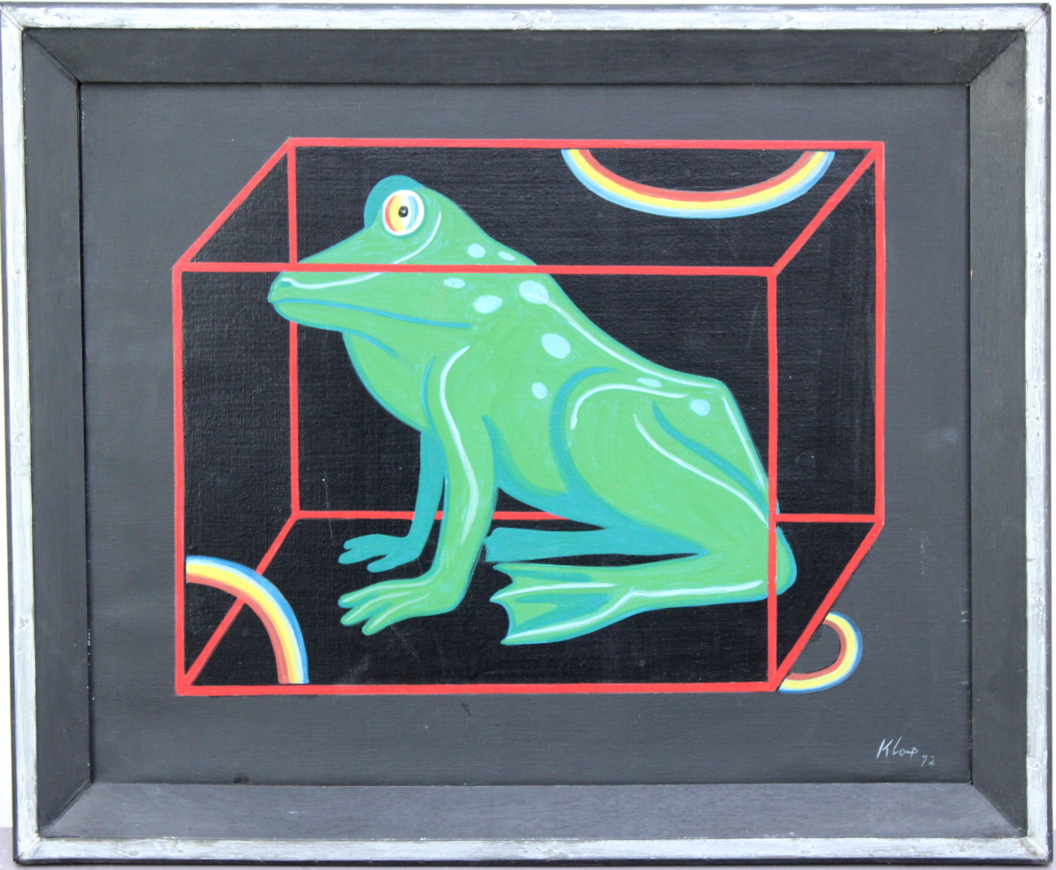 Ton Klop-Frog in cube, Duck in cube and Hedgehog in cube-1972