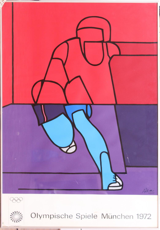 Valerio Adami-Poster: Olympic Games, Munchen-1972