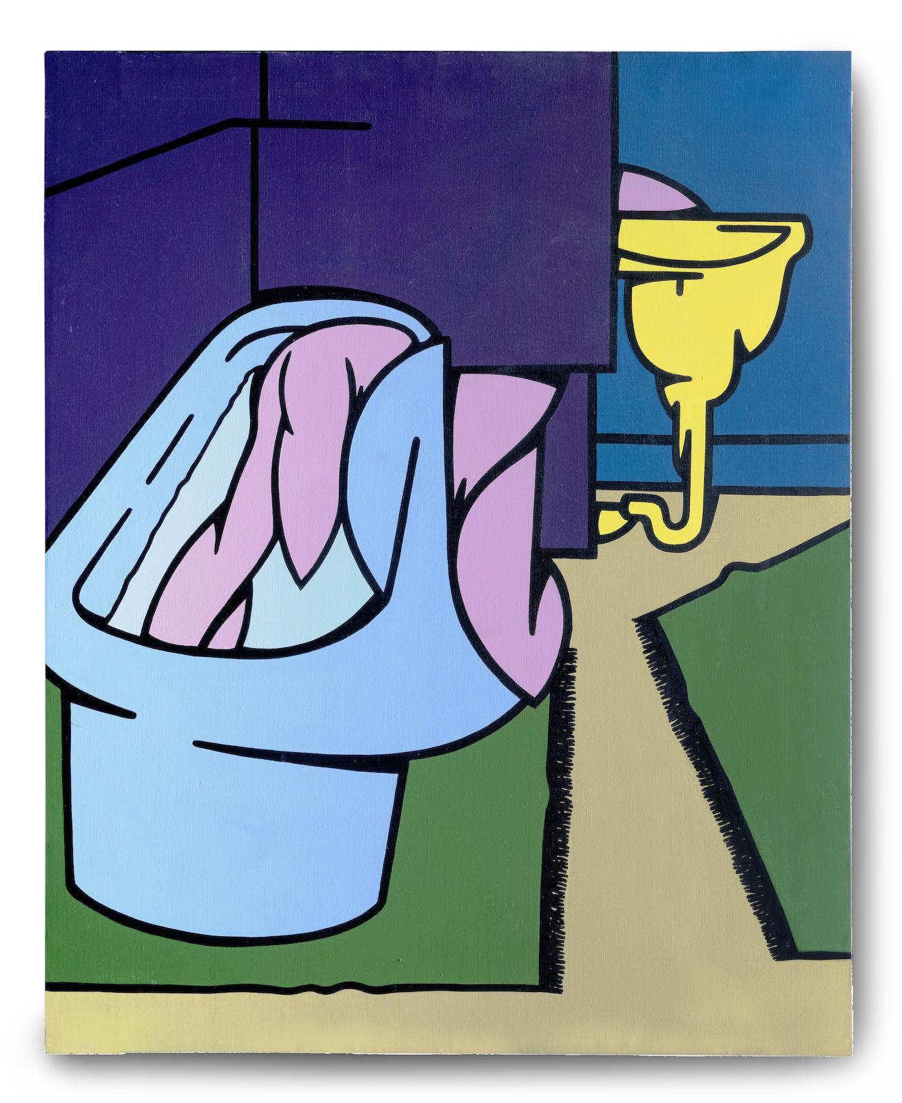 Valerio Adami-La stanza da bagno-1968
