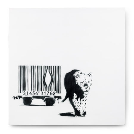 Banksy-Barcode Leopard-2002
