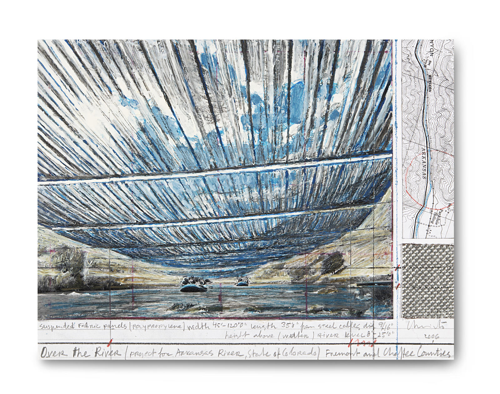 Christo and Jeanne-Claude-Over the River (project for Arkansas River State of Colorado)-2006