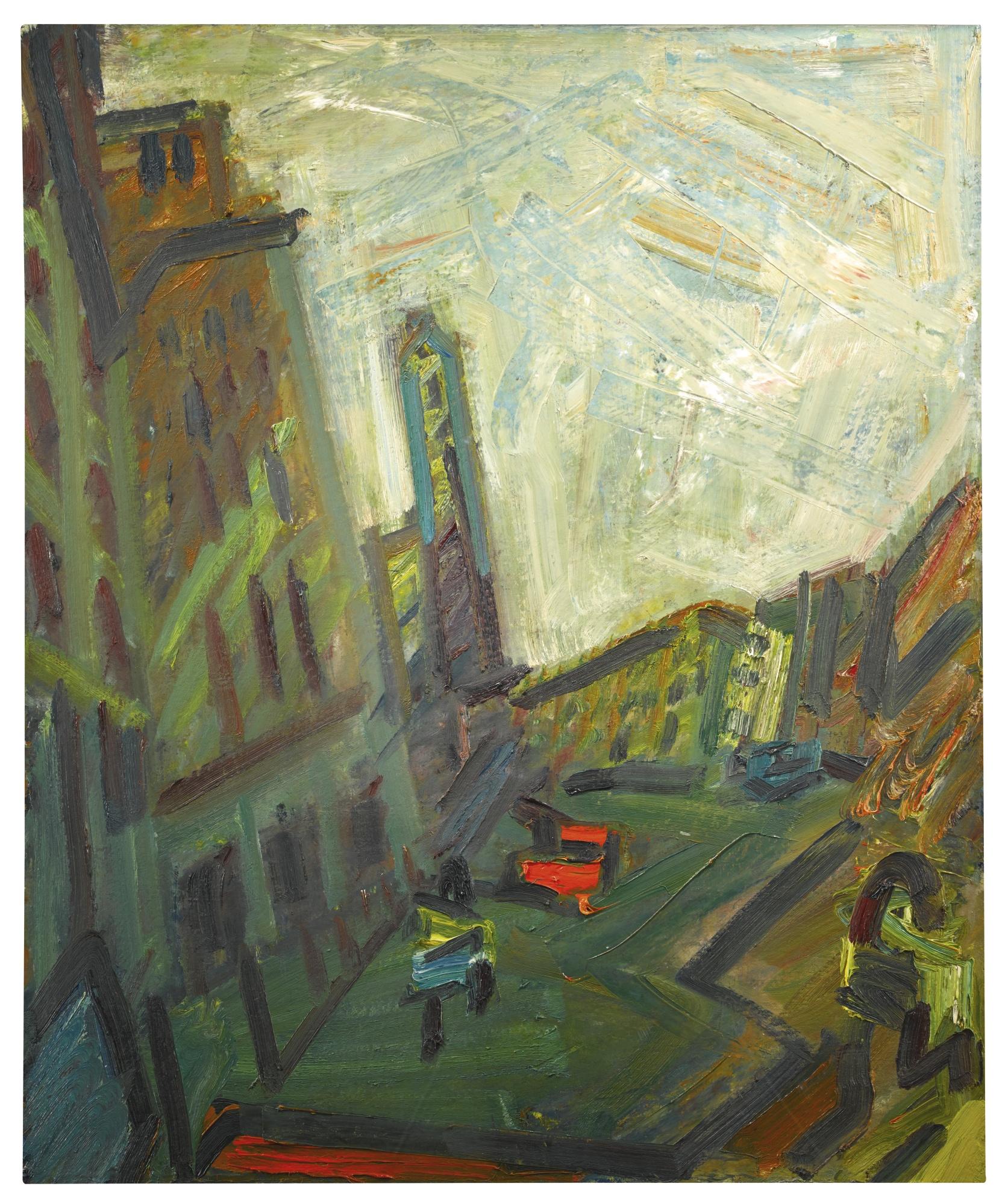Frank Auerbach-Mornington Crescent - First Light-1990