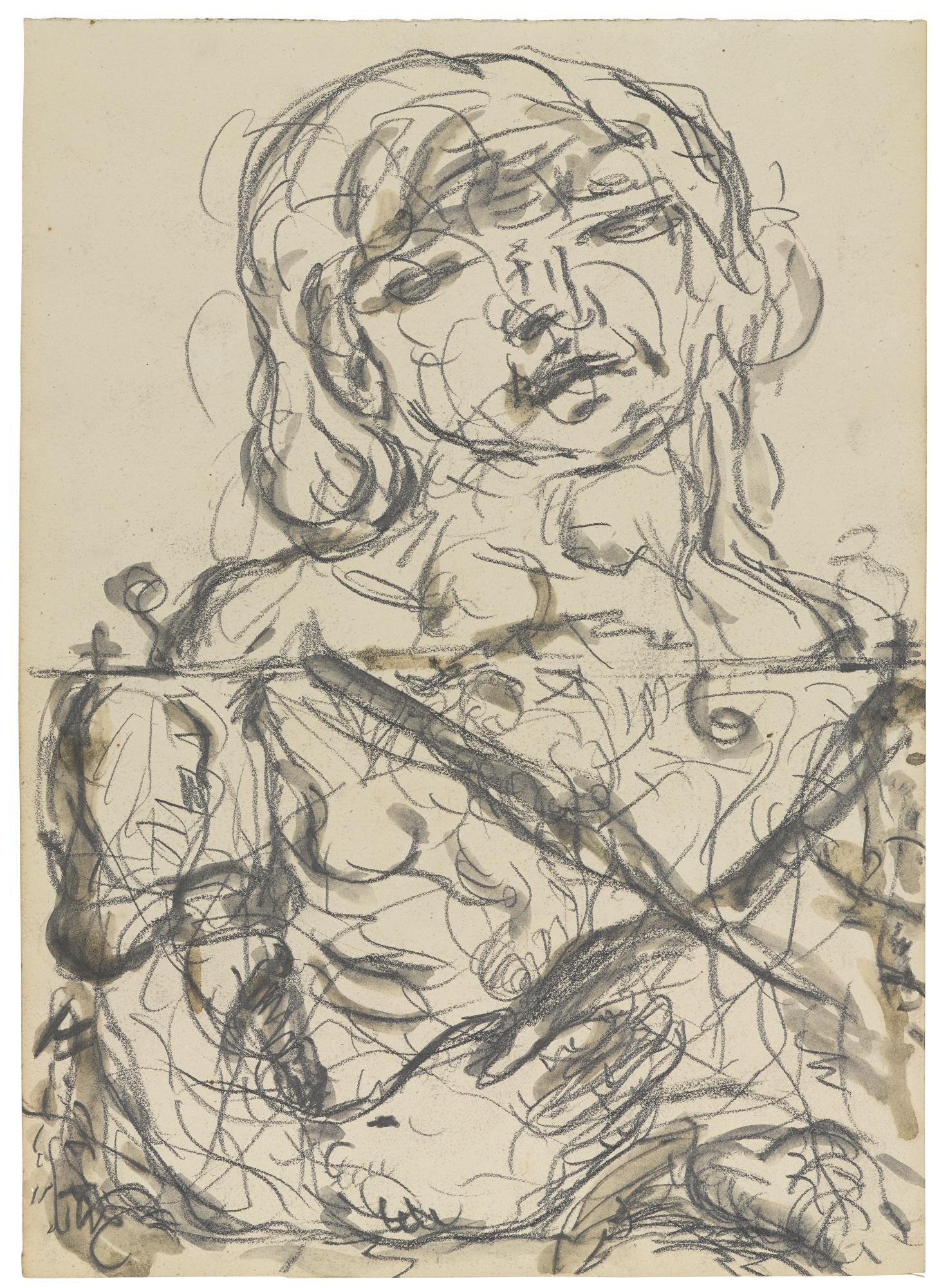 Georg Baselitz-Geteilter Held (Divided Hero)-1966