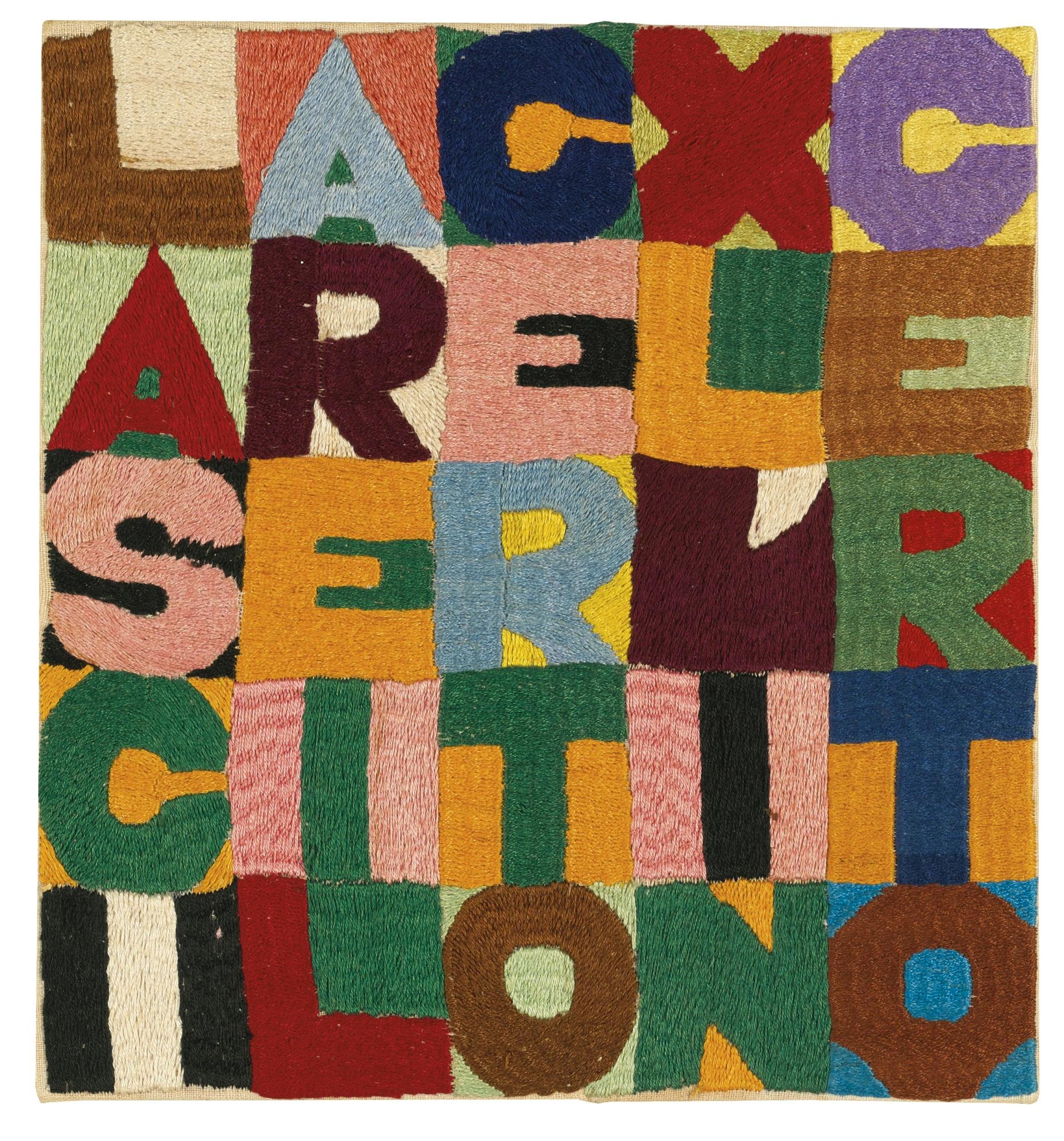 Alighiero Boetti-Lasciare Il Certo Per L'Incerto-1986