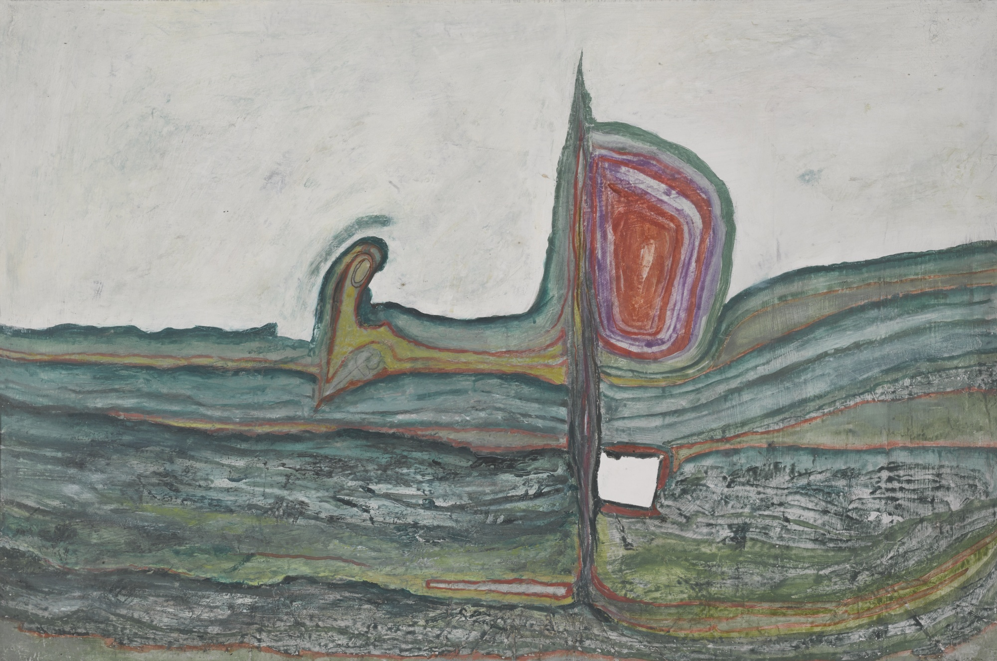 Friedensreich Hundertwasser-L'Accord Sous La Loupe Der Akkord Unter Der Lupe (The Chord Under The Loupe)-1958