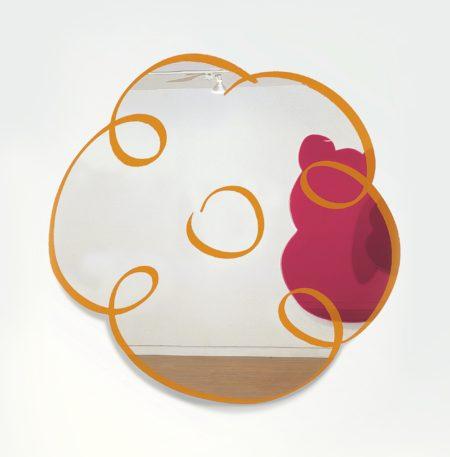 Jeff Koons-Orange Flower Drawing Mirror-2011