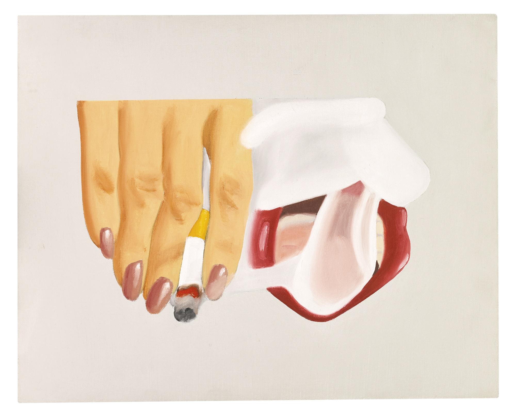 Tom Wesselmann-Smoker Study (For Smoker #14)-1973